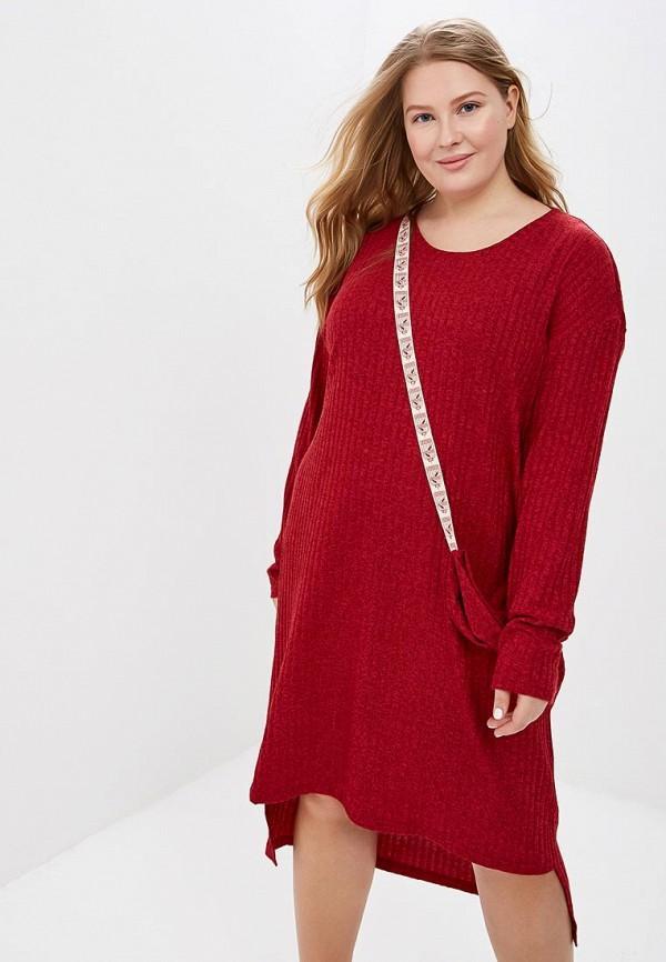 Платье  красный цвета