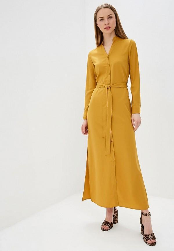 Платье  оранжевый цвета