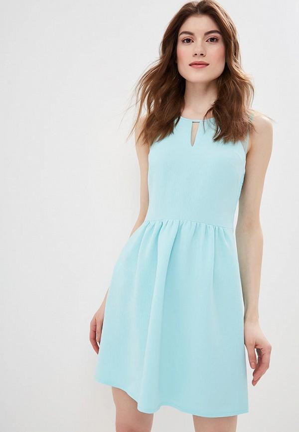 e62bcf6a70e2 Платье NA018EWENWS2 бирюзового цвета Naf Naf за 3 760 руб купить в ...