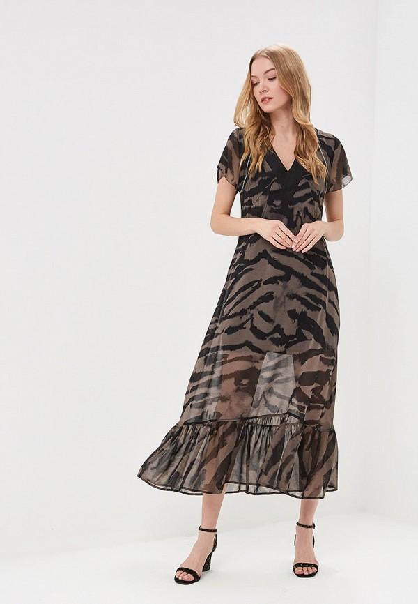 Платье  - коричневый цвет