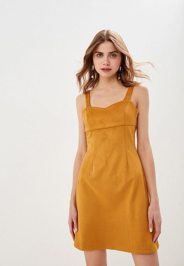 Платье  - оранжевый цвет