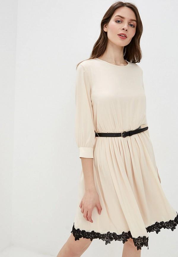 Платье  - бежевый, черный цвет
