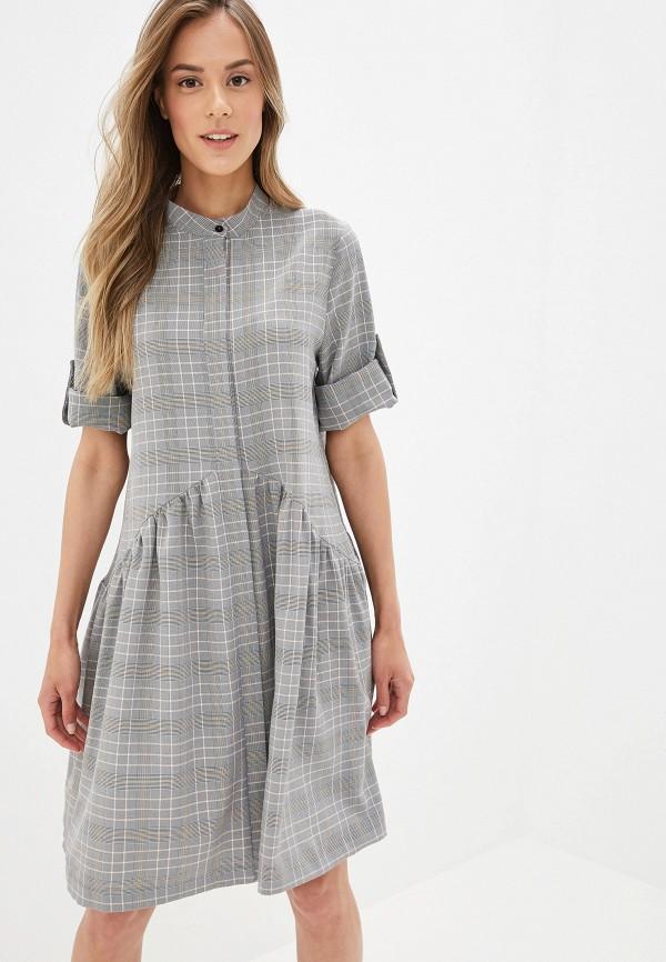 Платье  - серый цвет