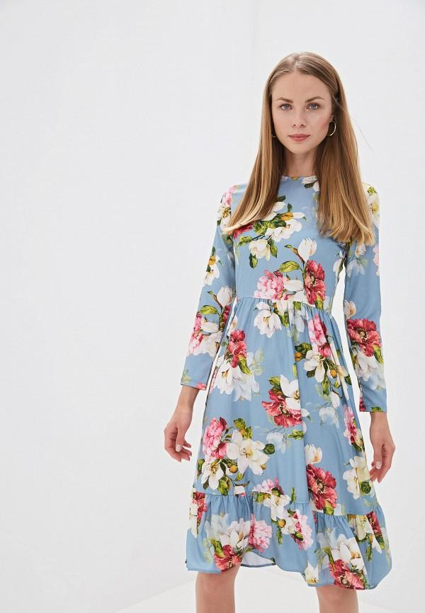 Платье  - голубой цвет