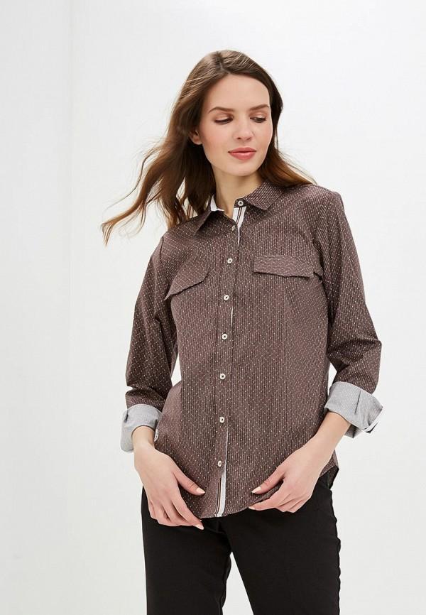 Рубашка  коричневый цвета