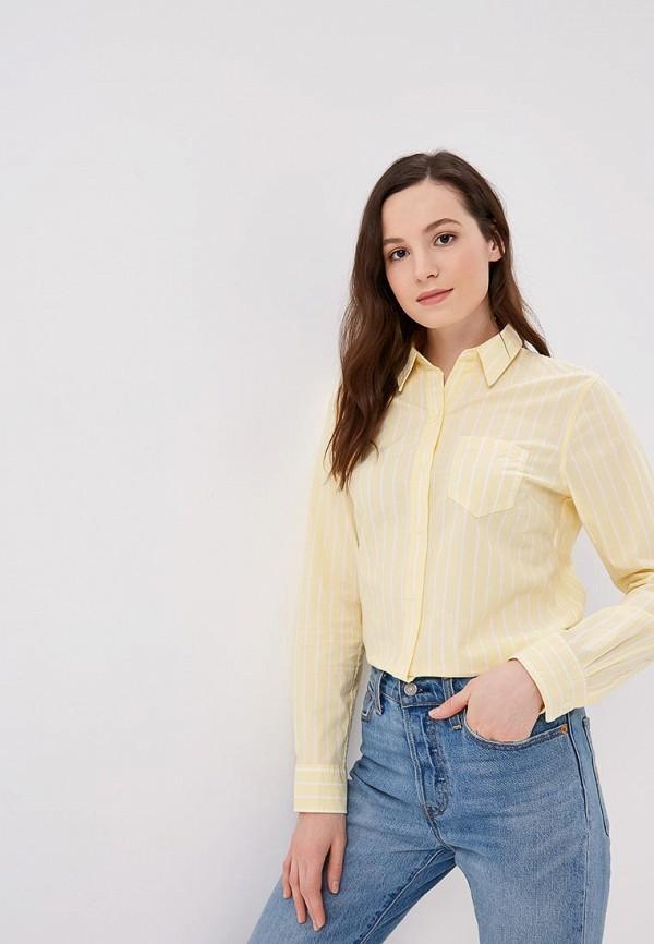 Рубашка  желтый цвета