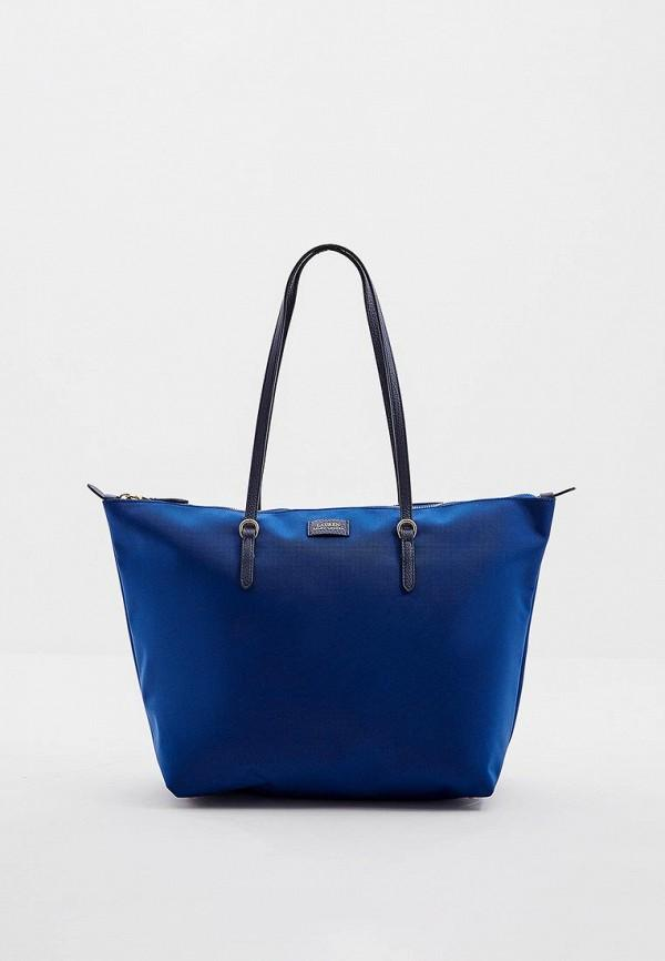 Сумка-шоппер  - синий цвет