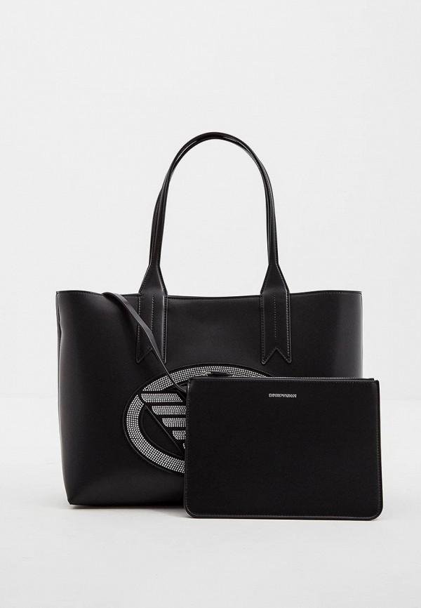 Сумка-шоппер  - черный цвет