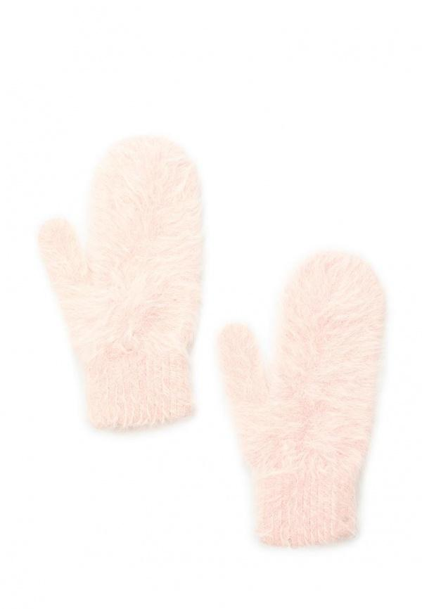 Варежки  розовый цвета