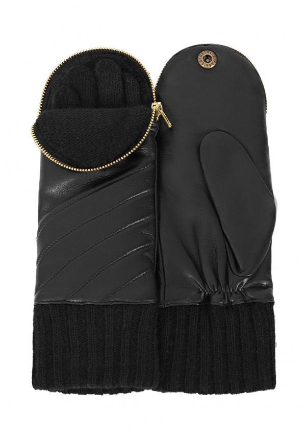 Варежки  черный цвета