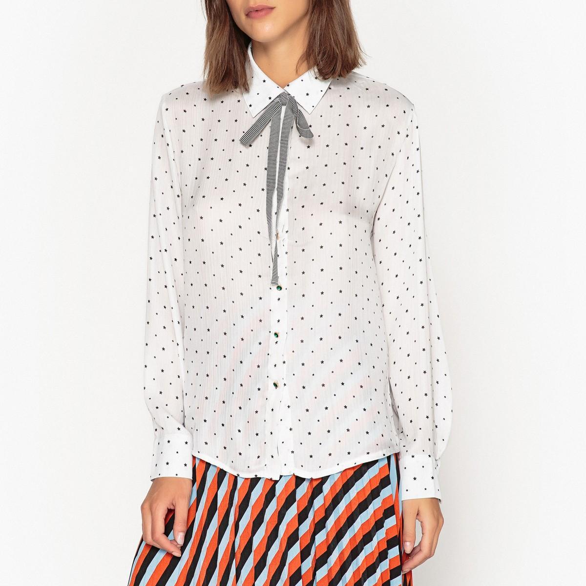 Рубашка  - рисунок/белый цвет