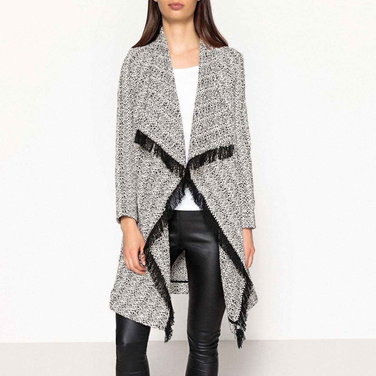 Пальто  - экрю/черный цвет