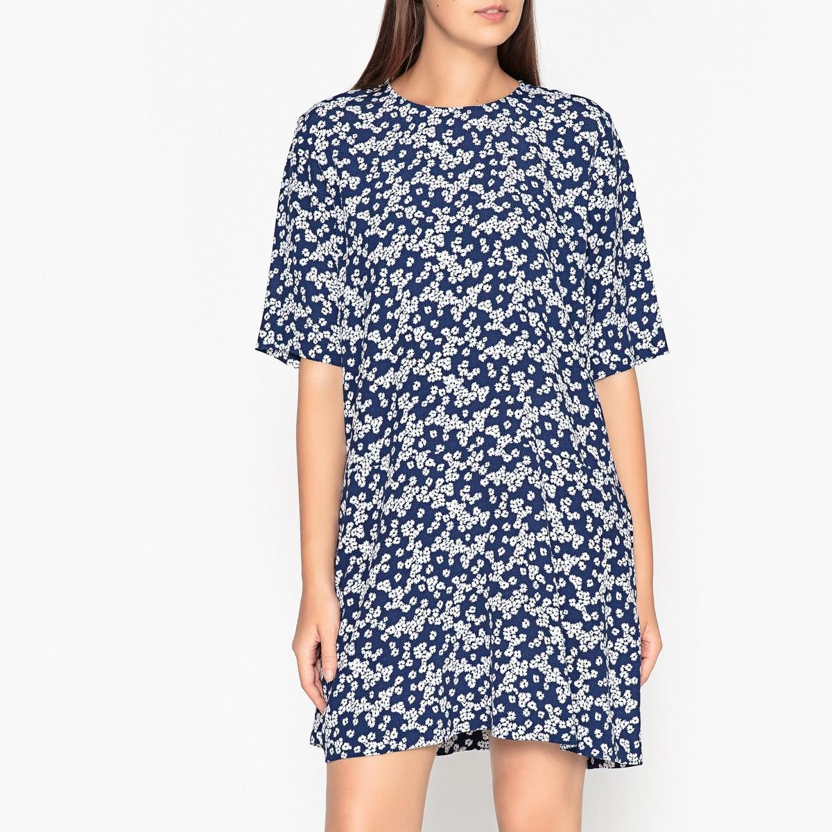Платье  наб. рисунок синий цвета