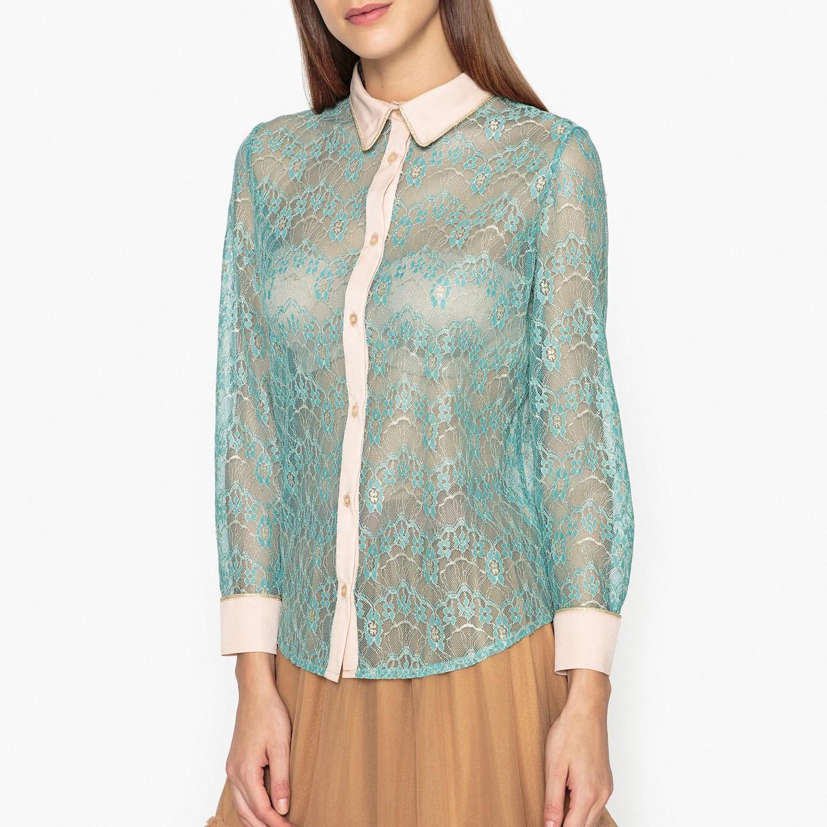 Рубашка  - бирюзовый цвет