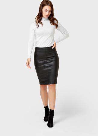 28f4f9d3560 Кожаная юбка-карандаш черного цвета Ostin за 1 799 руб. купить в ...