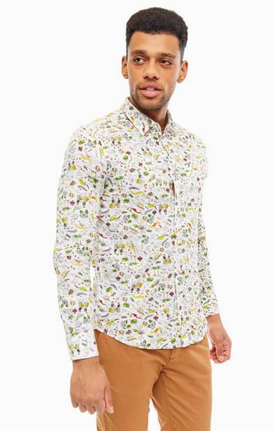 Рубашка  - цветочный принт цвет