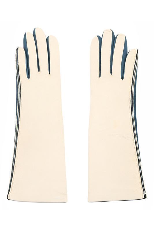 Перчатки  - Светло-бежевый, шелк цвет