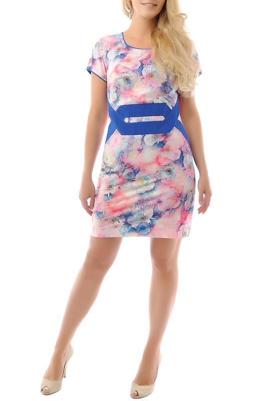 Платье  Розовый, синий цвета