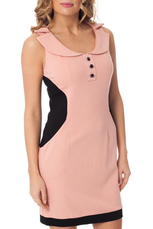 Платье  - Розовый, черный цвет