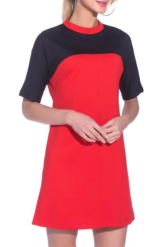 Платье  Черный, красный цвета