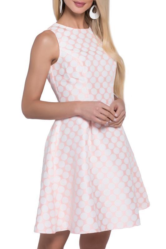 Платье  Бледно-розовый, белый цвета