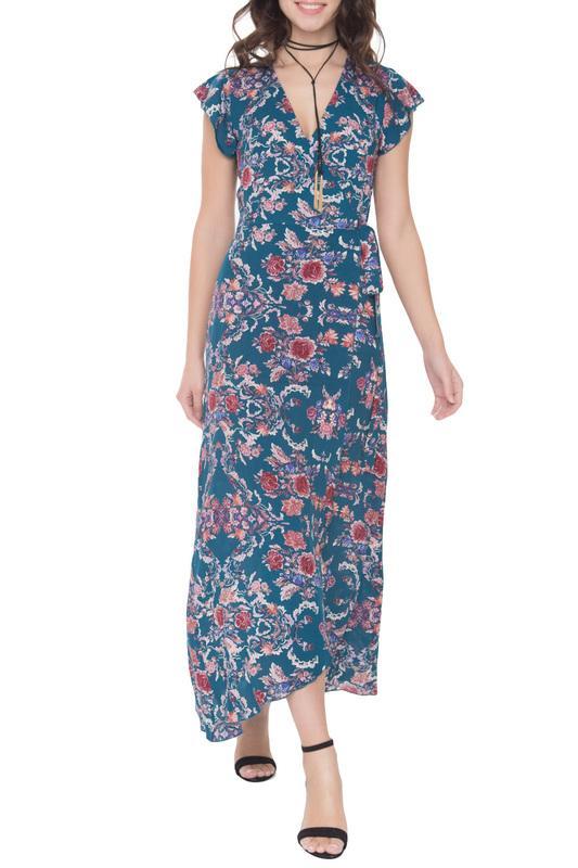 Платье  - Темно-бирюзовый цвет