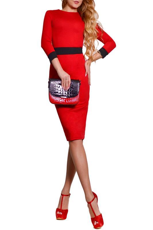 Платье  - Красный, черный цвет