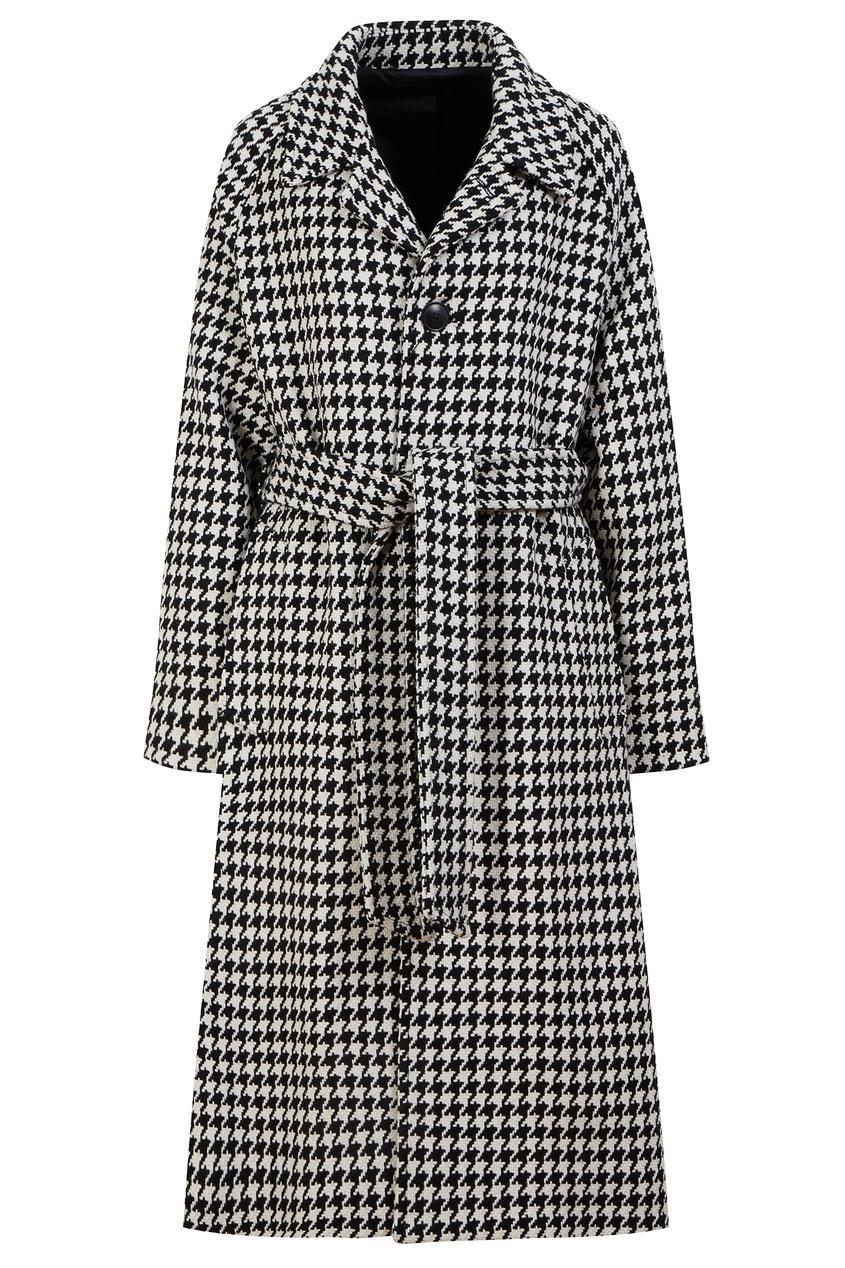 Пальто  - Черно-белый цвет