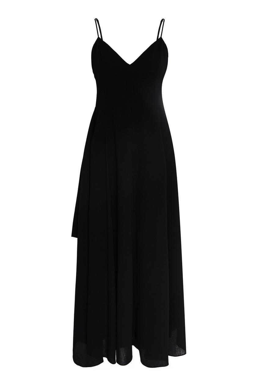 Платье  - черный цвет