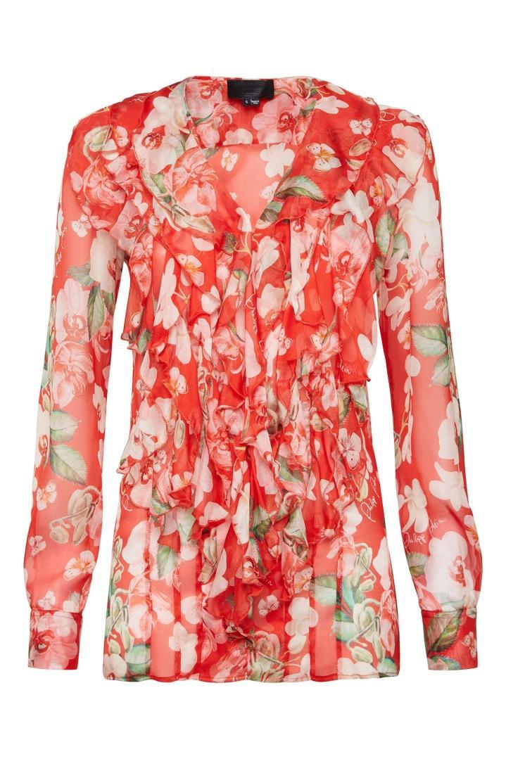 Блузка  - красный цвет