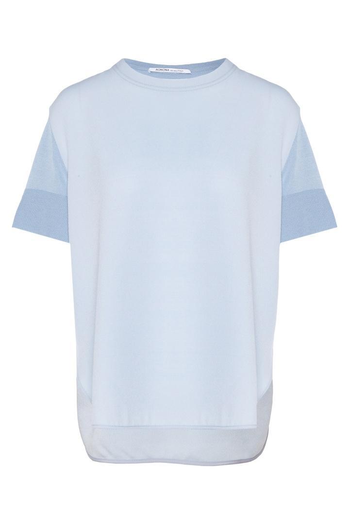 Блузка  - голубой цвет