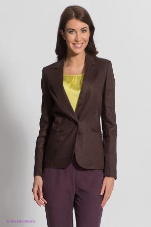 Пиджак  темно-коричневый  цвета