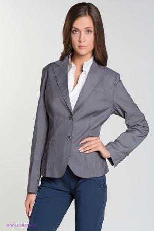 Пиджак  серый меланж  цвета