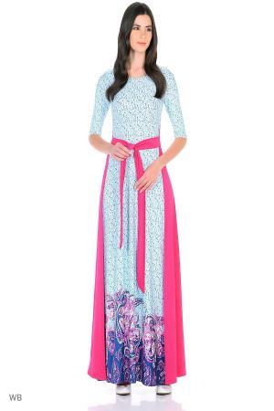 Платье  розовый, синий, голубой  цвета
