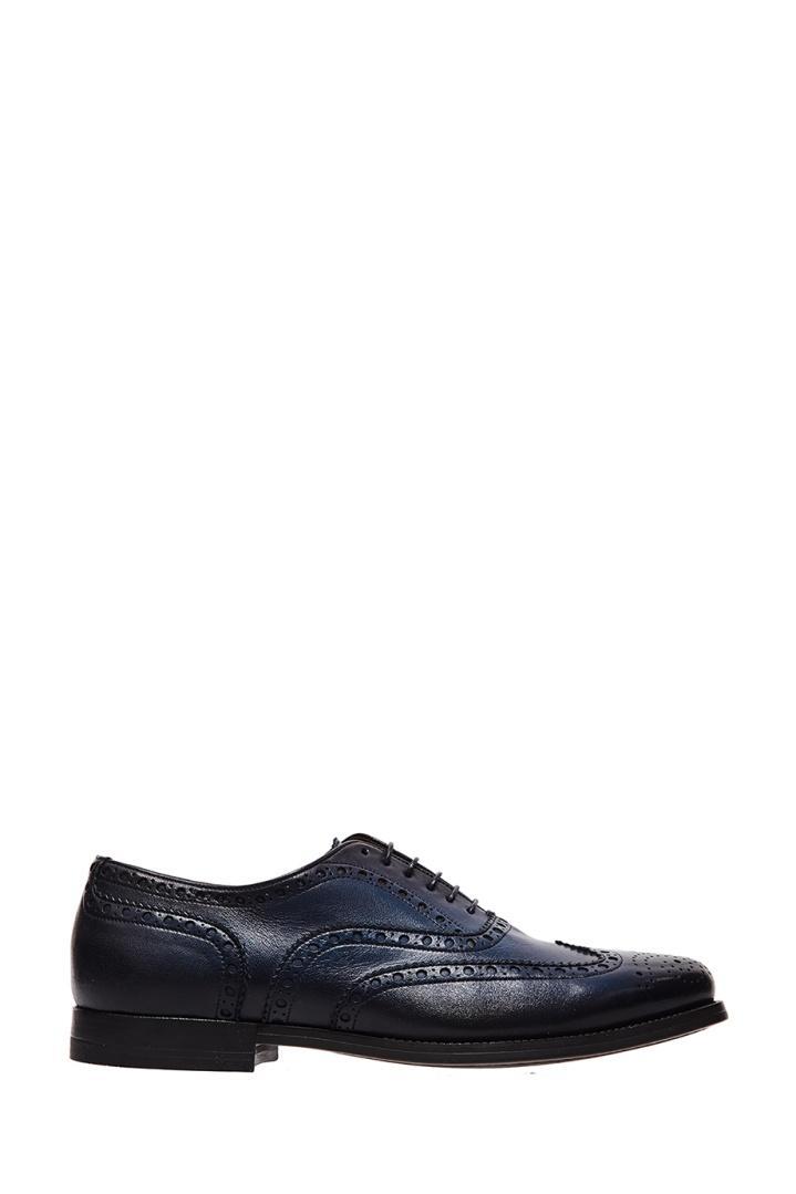 Ботинки  - синий цвет
