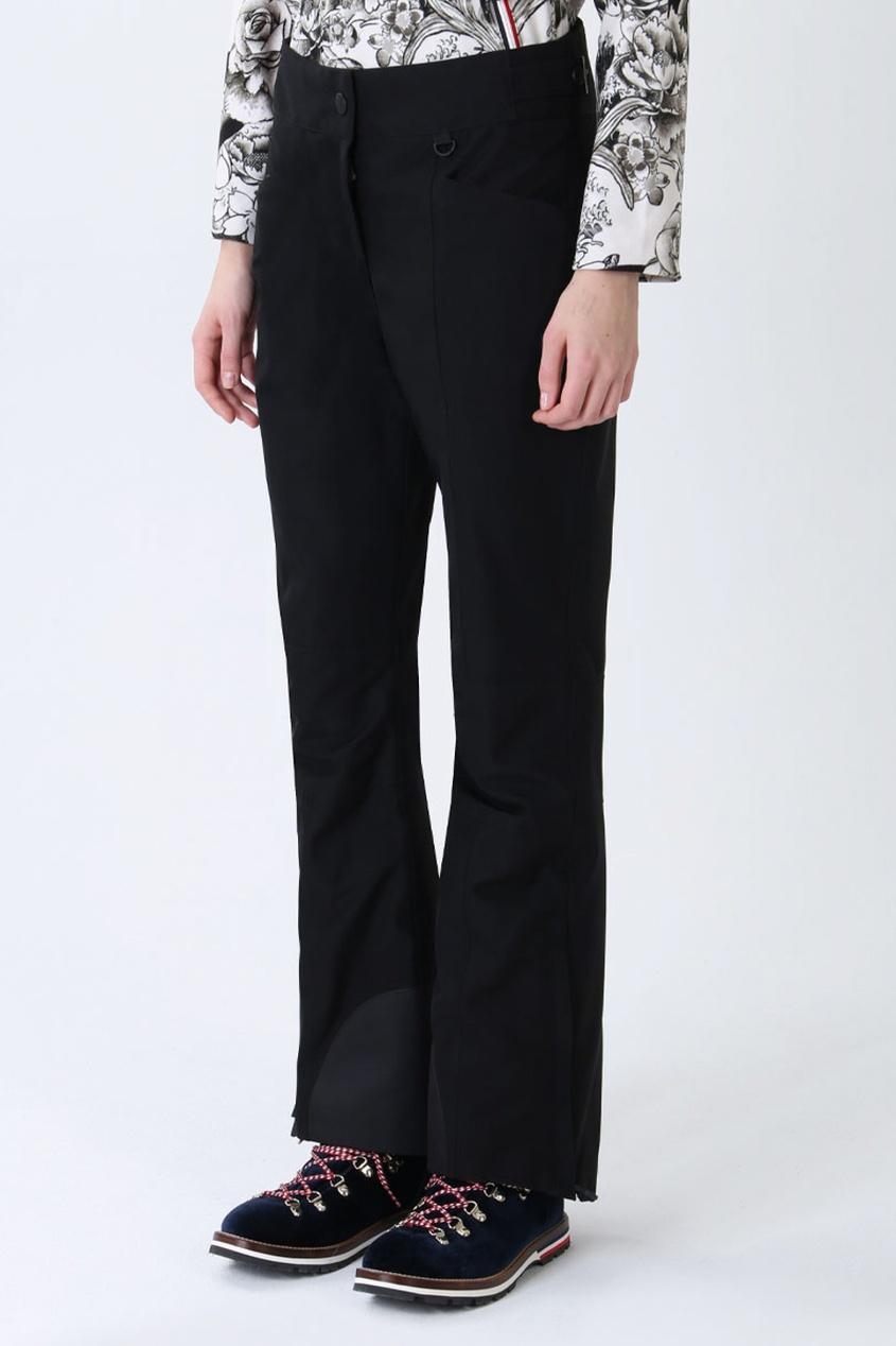 Расклешенные брюки  - черный цвет