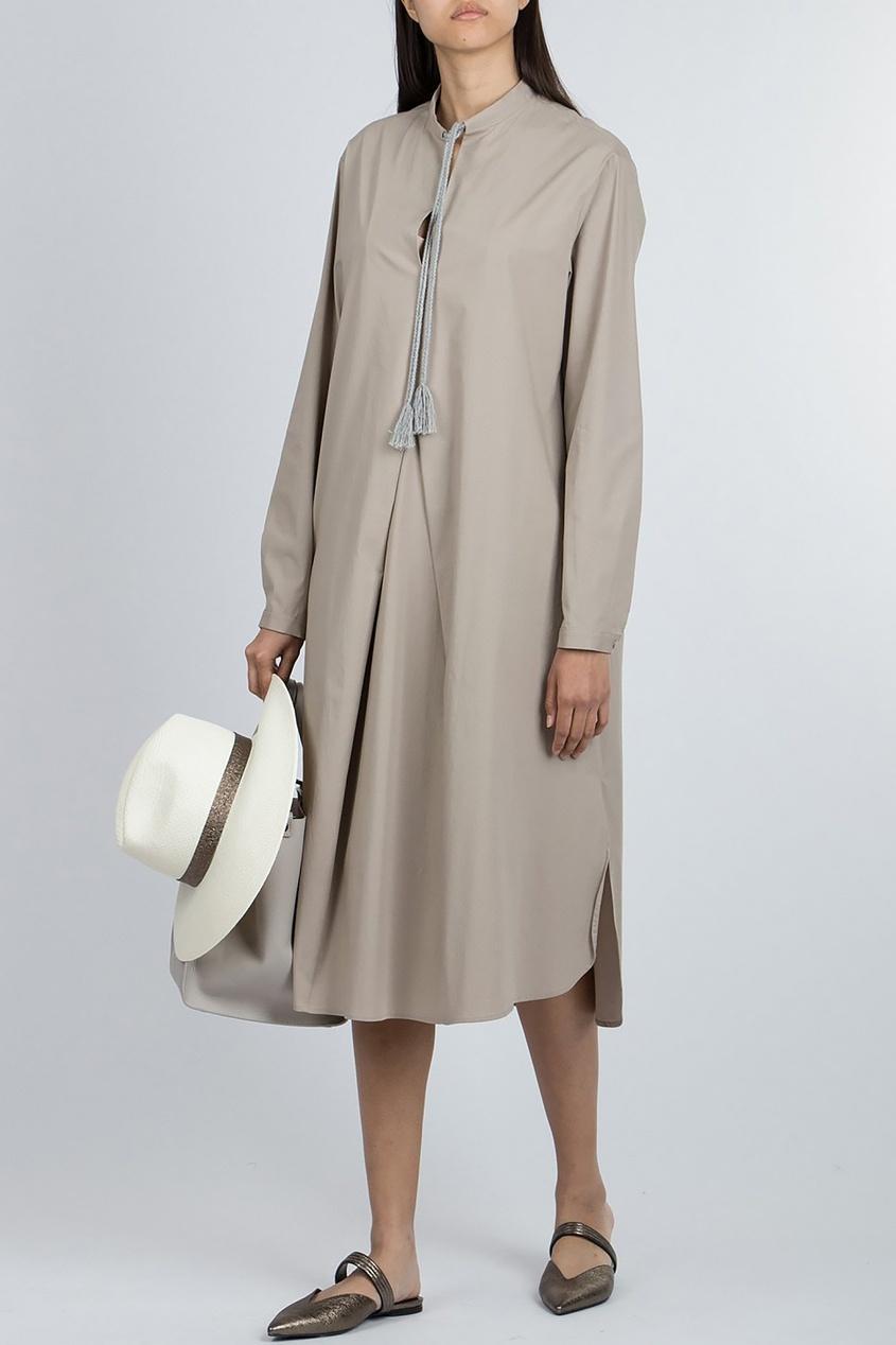 Платье  - бежевый цвет