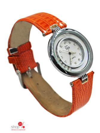 Часы  серебряный, оранжевый цвета
