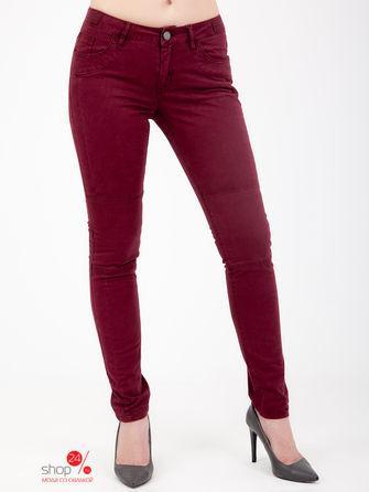 Джинсы  - бордовый цвет