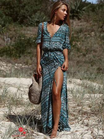 Платье  синий, голубой цвета