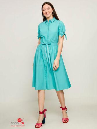 Платье  светло-зеленый цвета