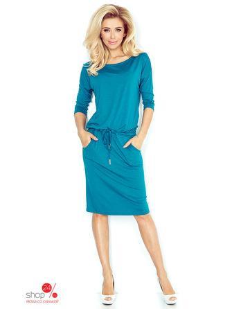 Платье  бирюзовый цвета