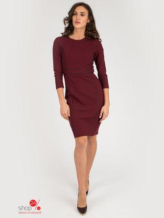 Платье  темно-бордовый цвета