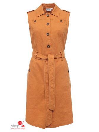 Платье  темно-оранжевый цвета