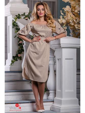 Платье  светло-бежевый цвета