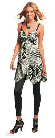 Платье  серый, белый, черный, рисунок цвета