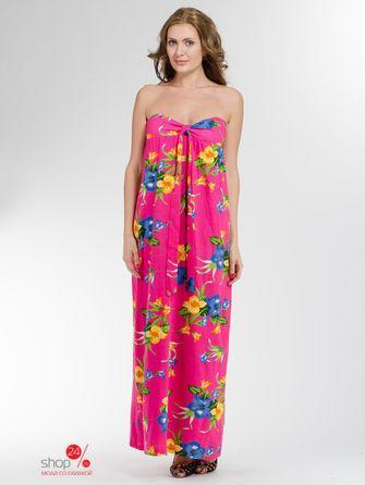 Платье  розовый, синий, желтый цвета