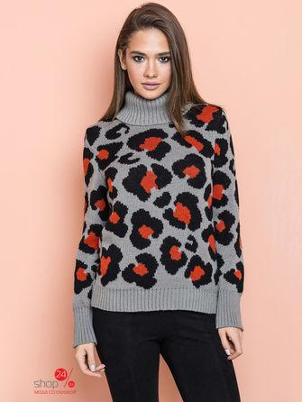 Пуловер  бежевый, терракотовый, черный цвета