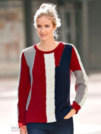 Пуловер  красный, синий, белый цвета