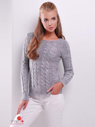 Пуловер  темно-серый цвета
